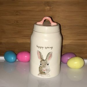 BRAND NEW Rae Dunn Happy Spring 🐇Easter Canister